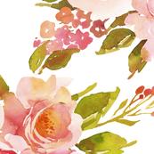 Boho pink roses