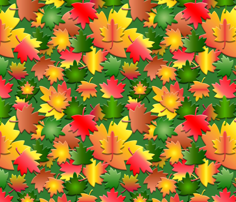 Fall_Leaves_Pattern fabric by stradling_designs on Spoonflower - custom fabric