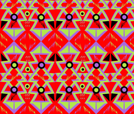 Memphis Style Vibrant Red fabric by gracelillydesigns on Spoonflower - custom fabric