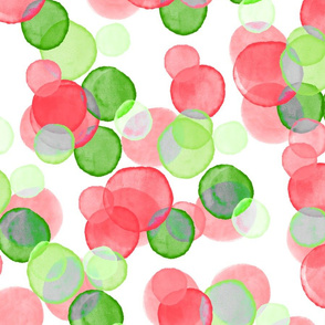 Christmas Watercolor Bubbles