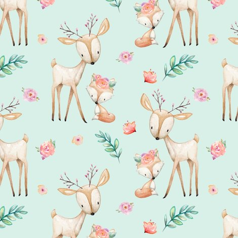 R00-deer-fox-flowers-fabric-6-soft-mint_shop_preview