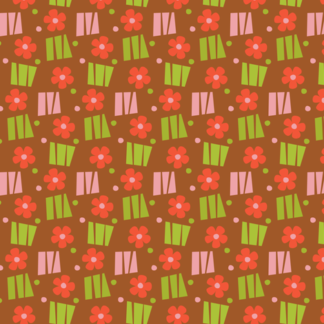 daisy dot_on_rust fabric by studiojenny on Spoonflower - custom fabric