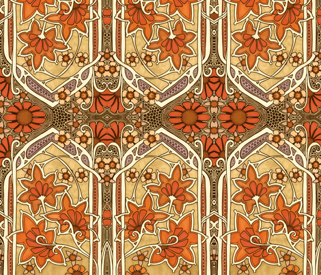When Autumn Leaves fabric by edsel2084 on Spoonflower - custom fabric