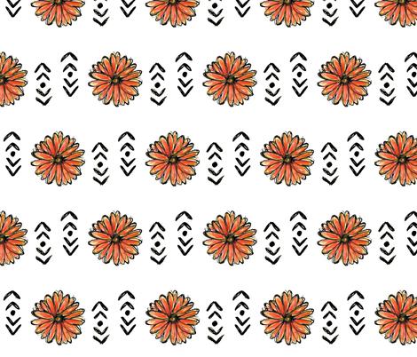 Daisy fabric by woolandbristle on Spoonflower - custom fabric