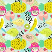 TEA TOWEL Memphis Style Fruit