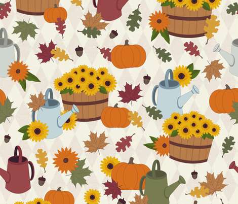 Old Fashioned Autumn fabric by diseminger on Spoonflower - custom fabric
