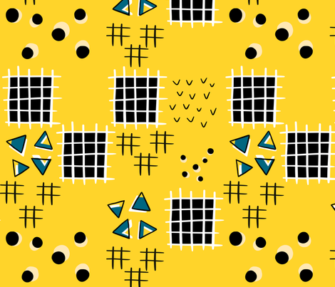 Memphis Patchwork fabric by janetdrummond on Spoonflower - custom fabric