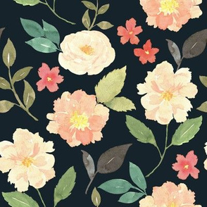 Peachy floral dark