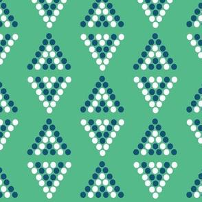 tribal diamonds in green