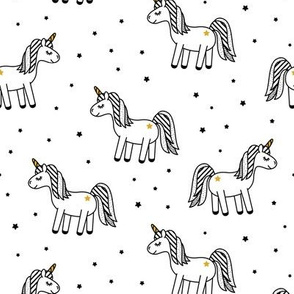 monochrome unicorn