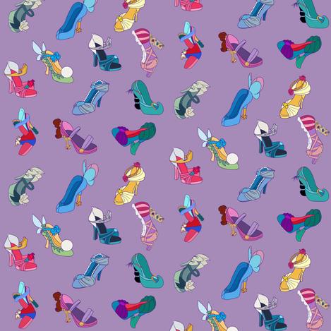 Princess Heels Purple fabric by nekov on Spoonflower - custom fabric