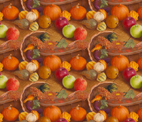 Harvest Bounty fabric by nancy_lee_moran_designs on Spoonflower - custom fabric