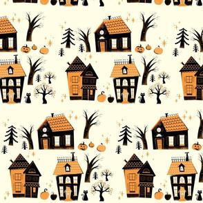 Vintage Halloween Houses