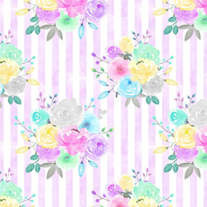 Striped Pastel Floral