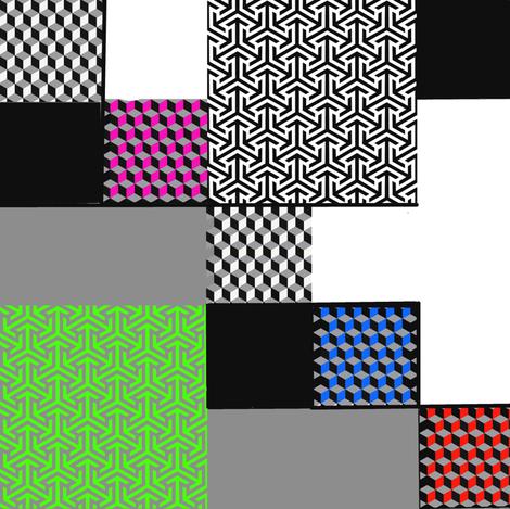 memphis style fabric by lbehrendtdesigns on Spoonflower - custom fabric
