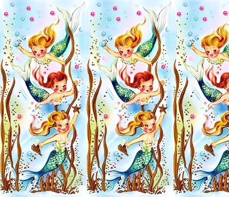 Rspoonflower_mermaid_trio_10x_denoise_2_merge_boundary_shop_preview