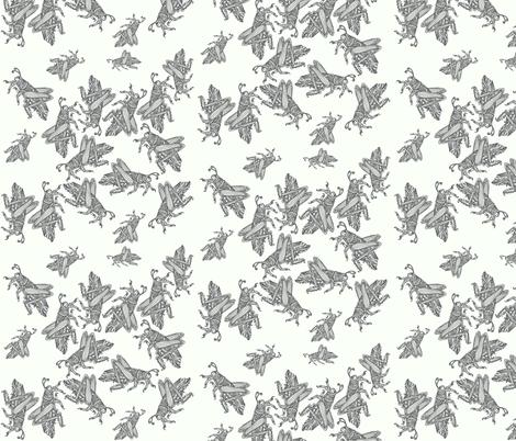 Grasshoppes on cream fabric by monaharris on Spoonflower - custom fabric