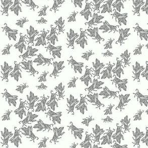 Grasshoppes on cream