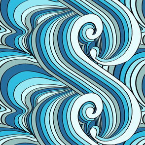 Ocean Waves Shaded
