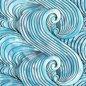 Watercolour Ocean Waves