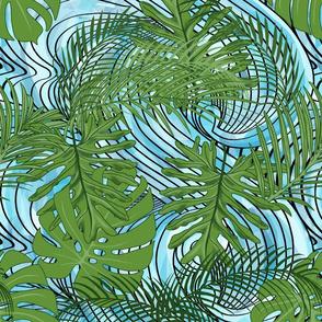 Ocean Waves through More Leaves