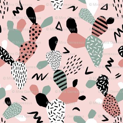 memphis cactus collage