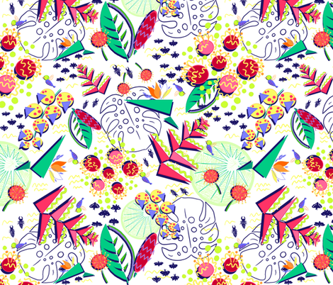 Memphis Paradise fabric by helenpdesigns on Spoonflower - custom fabric