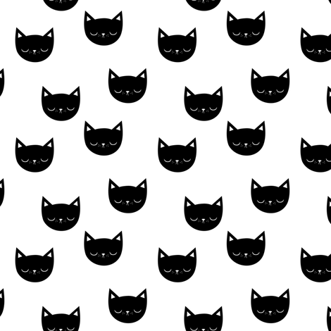 Kitties - small fabric by kimsa on Spoonflower - custom fabric