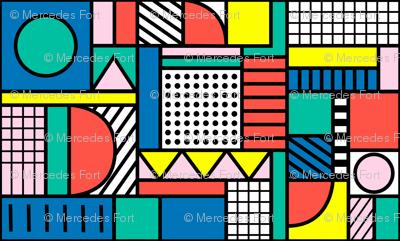 Memphis Color Block