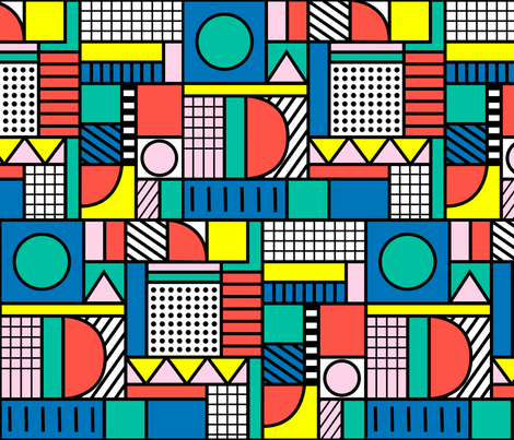 Memphis Color Block fabric by polita on Spoonflower - custom fabric