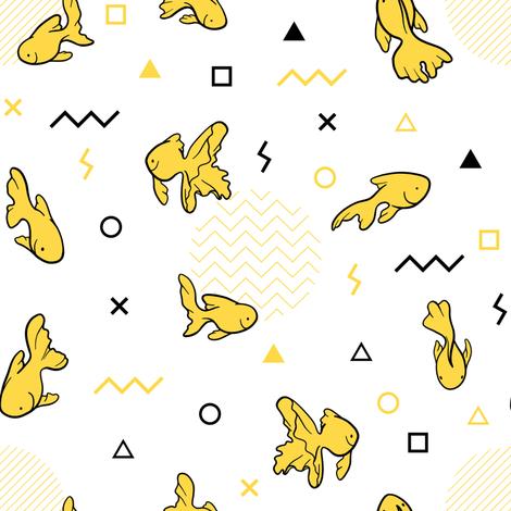 Memphis fish fabric by elena_naylor on Spoonflower - custom fabric