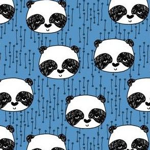 Panda fabric // Cerulean Blue by Andrea Lauren