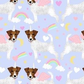 jack russell unicorn fabric pastel unicorns rainbows design