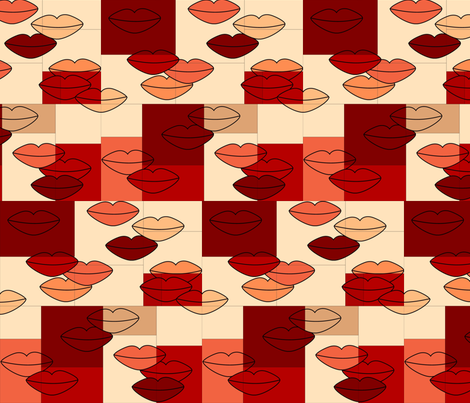 Rustic Fall Lips  fabric by caroline_ranere on Spoonflower - custom fabric
