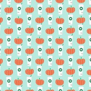 pumpkin spice drink fabric