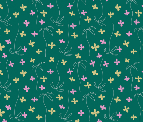 flowing_flower_dots fabric by zuzana_kokkinou on Spoonflower - custom fabric
