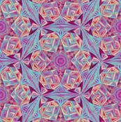 Kaleidoscope_Snowflake_Turquoise-Clared_Red