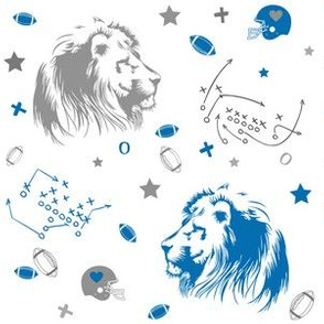 "6"" Lions / Grey & Blue"