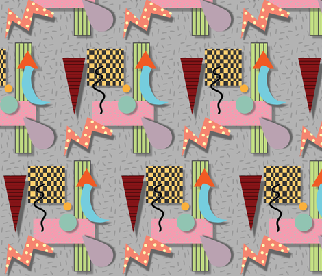 Textile-Memphis fabric by ghazel on Spoonflower - custom fabric