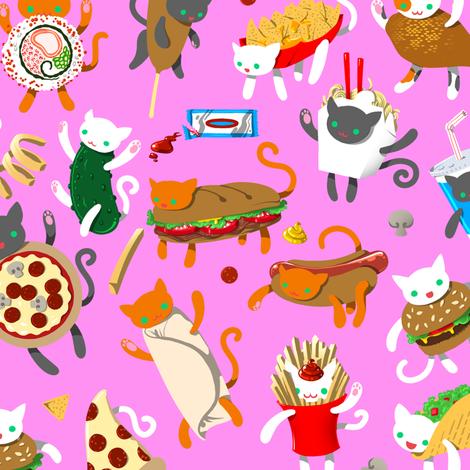 Cat Food 2 fabric by jadegordon on Spoonflower - custom fabric