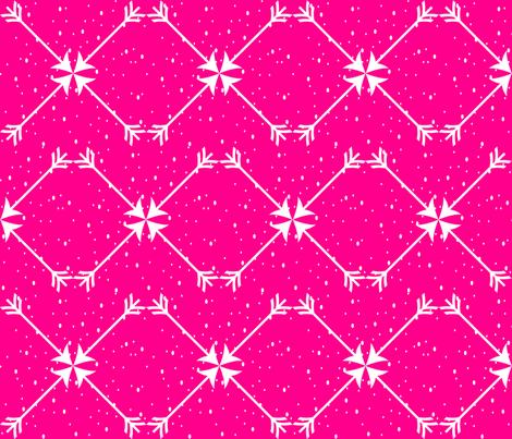 Magenta Arrows fabric by marjorie_henderson on Spoonflower - custom fabric