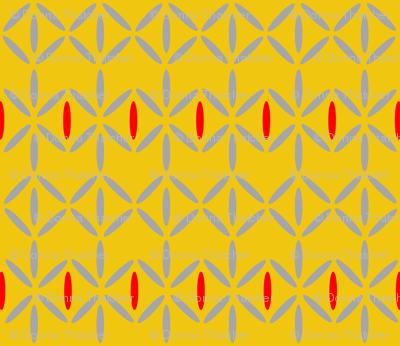 diamond bars mustard yellow red grey
