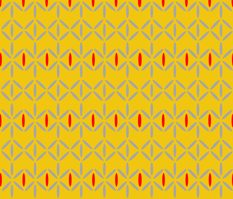 diamond bars mustard yellow red grey fabric by doloube on Spoonflower - custom fabric