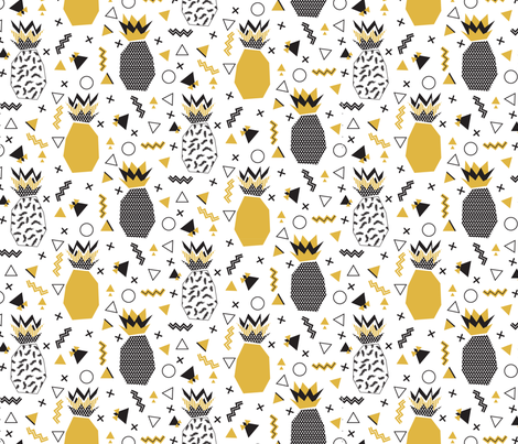 MEMPHIS_PINEAPPLE_FEST_ fabric by plante on Spoonflower - custom fabric