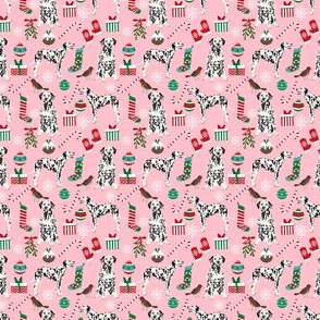 dalmatian pink christmas fabric cute  christmas fabrics xmas holiday xmas dog dalmatians