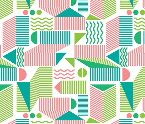 There's a screw loose in this design fabric by vo_aka_virginiao on Spoonflower - custom fabric