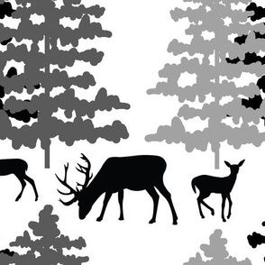 Rustic Woodland Animals Deer