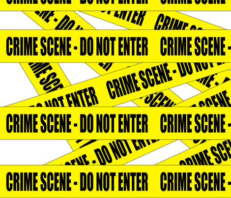 2 crime scene do not enter stay out barricade notice warning barrier police tape pop art caution novelty life sized jokes gags  fabric by raveneve on Spoonflower - custom fabric