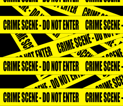 1 crime scene do not enter stay out barricade notice warning barrier police tape pop art caution novelty life sized jokes gags fabric by raveneve on Spoonflower - custom fabric