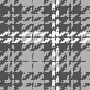 fall plaid - grey and charcoal